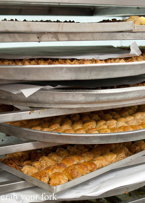 Housemade Arabic pastries during a behind-the-scenes tour of Emirates Flight Catering