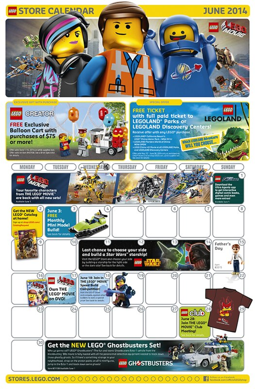 Calendar Lego June : Lego shop june calendar summer sets released neoape