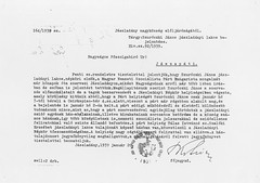 II/8. Jászladány község főjegyzőjének jelentése a Magyar Nemzeti Szocialista Párt szervezkedéséről és a zsidó lakosok elleni atrocitásokról