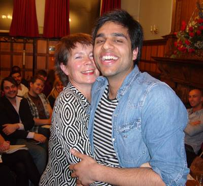Celia Imrie and Raj Bajaj