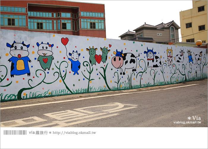 【彰化景點推薦】乳牛彩繪村(福寶村)~數百頭彩色小牛+夢幻藍晒圖的彩色村7