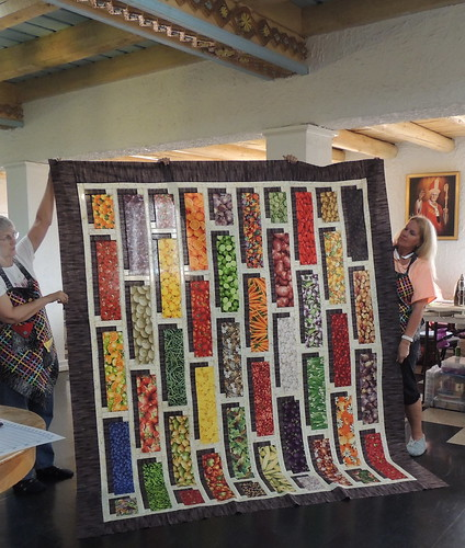 Cindy's Vegetable Shadow Box Quilt Top