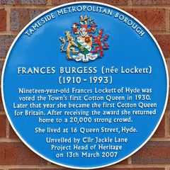 Photo of Frances Lockett blue plaque