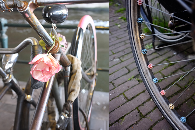 Floral detail and spokey dokes