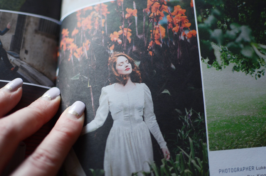 white magazine wedding feature b