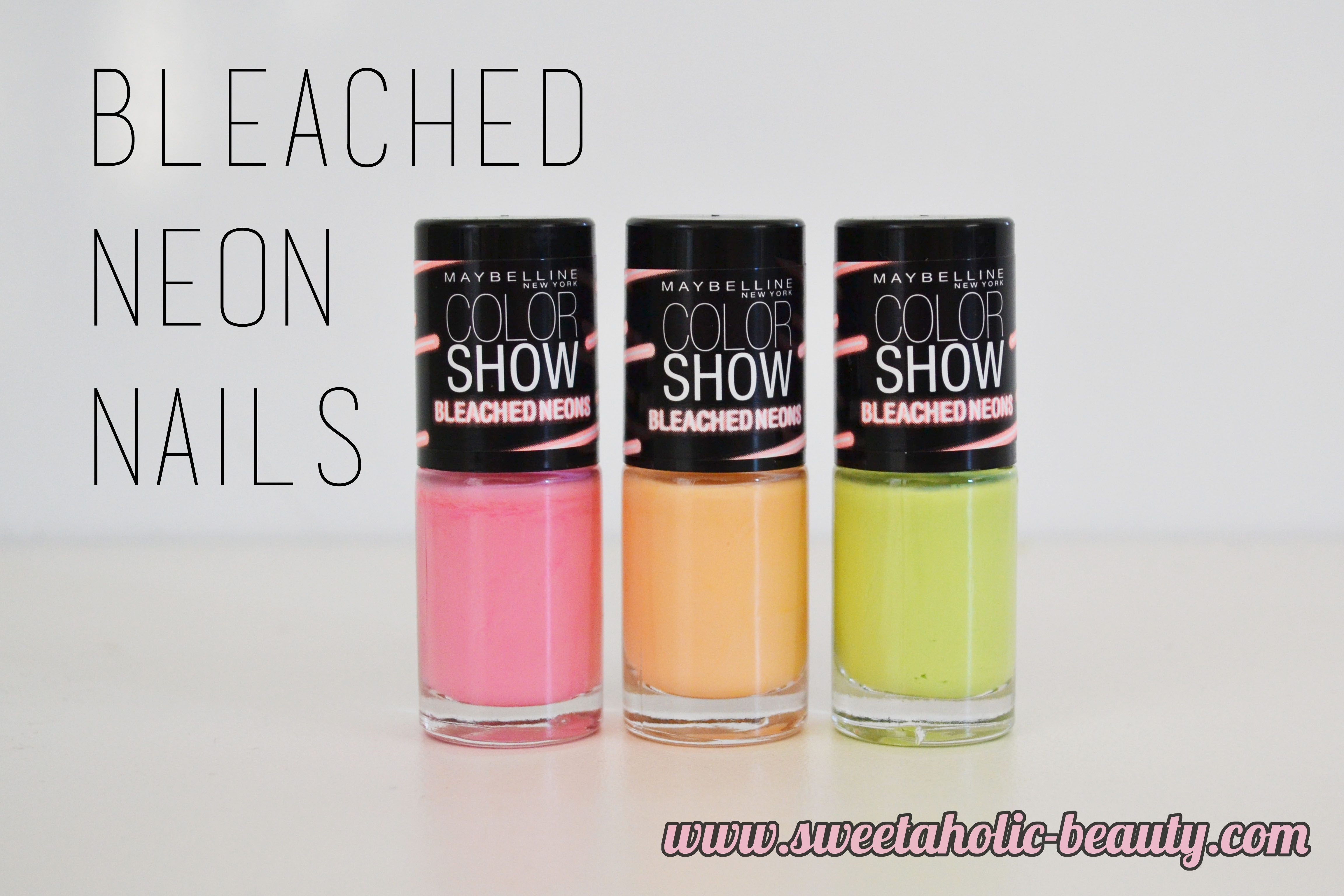 Maybelline Colour Show Bleached Neon Nail Enamels
