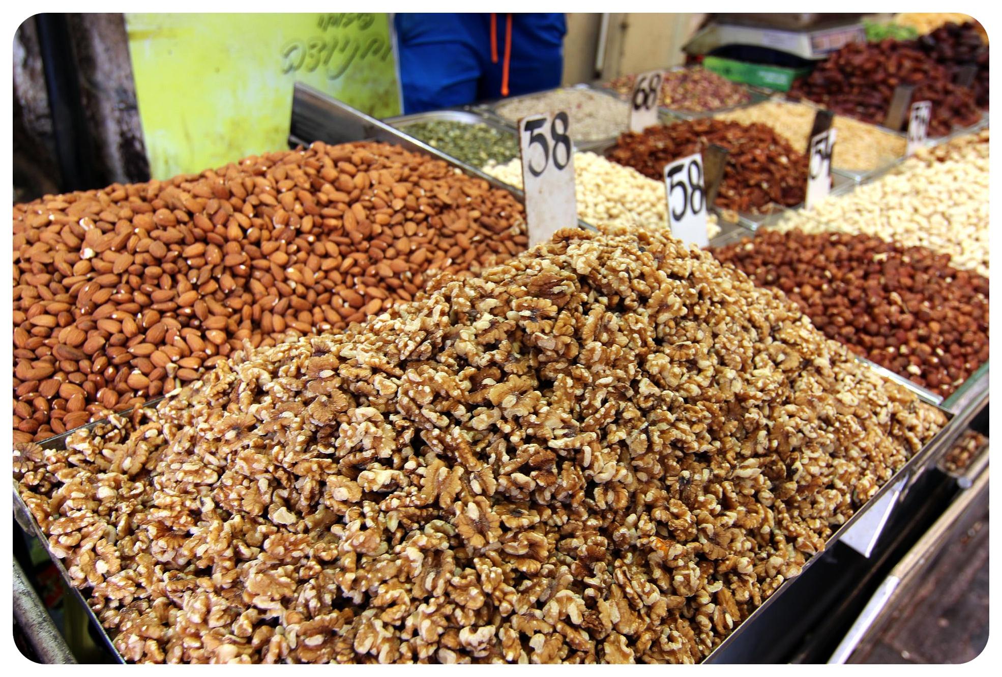 jerusalem market nuts israel