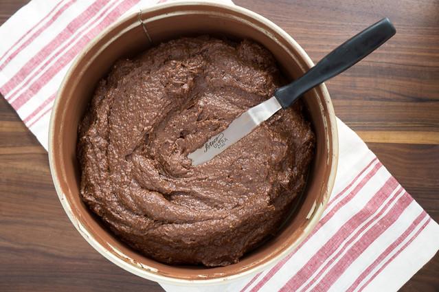 chocolate hazelnut torte batter