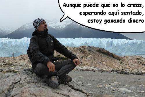 Ganando ingresos pasivos en el Glaciar Perito Moreno