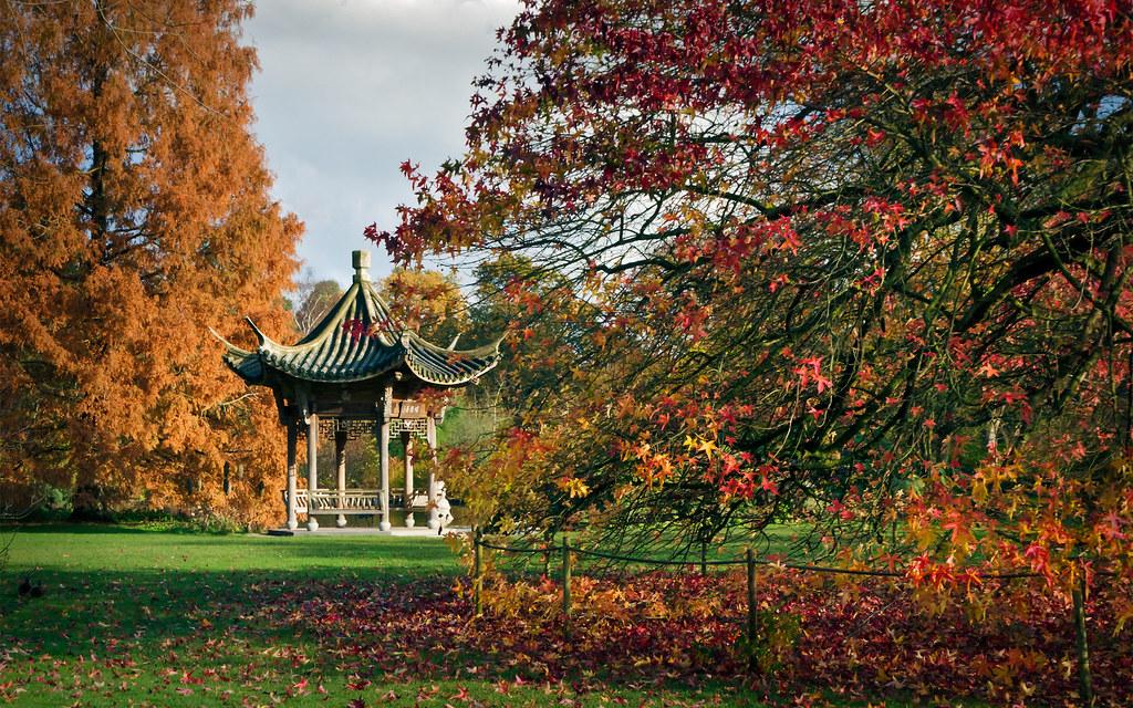 Oriental Pagoda Rhs Gardens Wisley Surrey Uk Chinoise