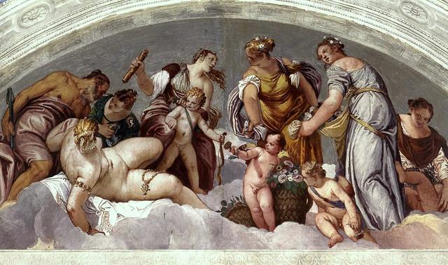 Paolo Veronese, Villa Barbaro, Maser, Vulkan und Venus
