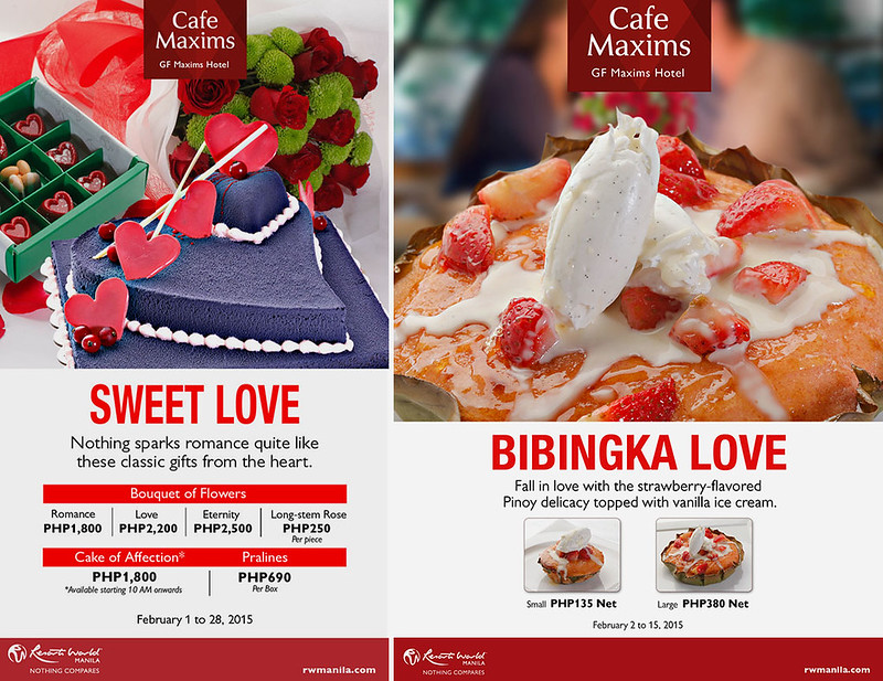 Valentine Offerings at Cafe Maxims
