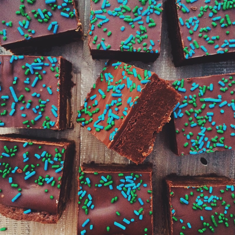 SuperBowl brownies #GOHAWKS