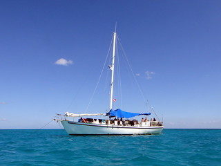 Sailing in the Exuma Cays