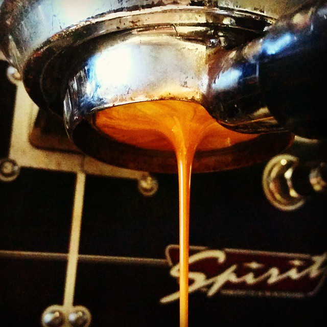 NEW ESPRESSO! Morning in the Marais - apricot,  caramel, and apple with a sweet berry finish. Come try it! #espresso #caffedbolla #kvdw #slc #coffee