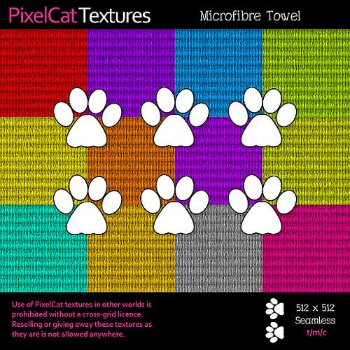 PixelCat Textures - Microfibre Towel