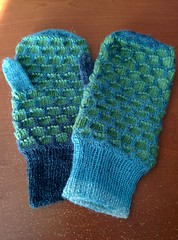 art, wool, aqua, knitting, crochet, woolen, glove,