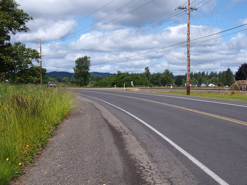 Monte–Elma Road: Where I got my puncture