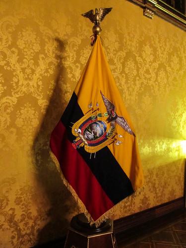 Quito: le drapeau équatorien