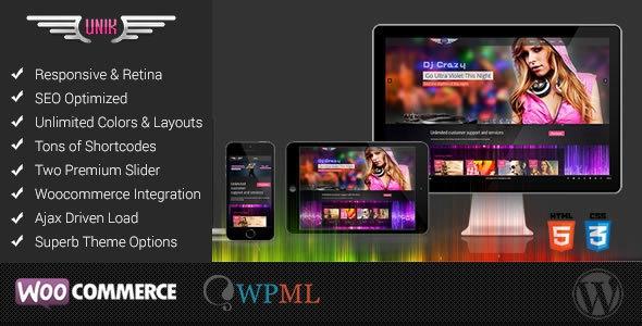 UNIK v3.2 - Universal Music Responsive Wordpress Theme