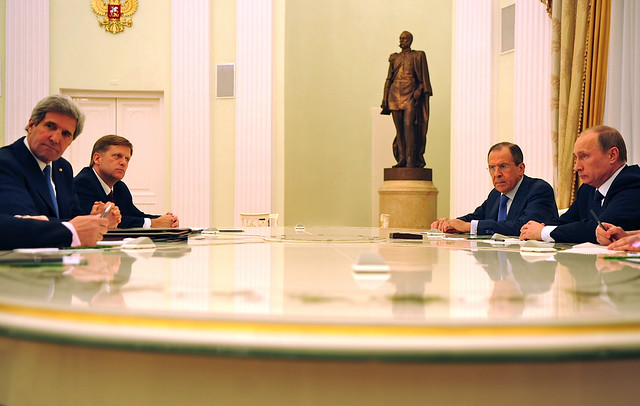 Secretary Kerry Meets With Russian President...