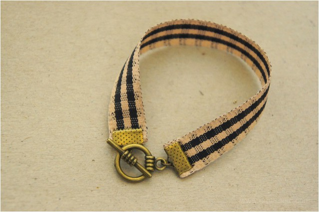 ribbon bracelet diy 5