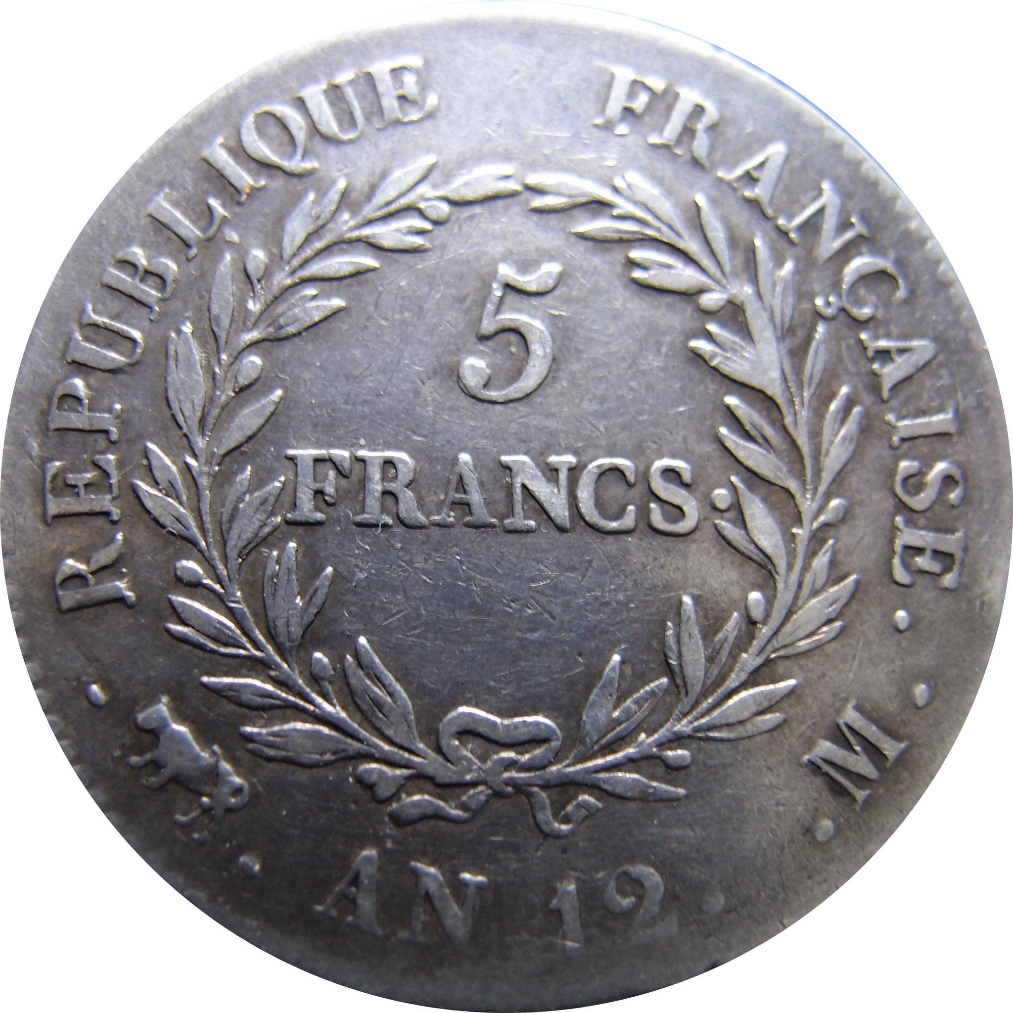 5 Francs. Francia. 1804. Toulouse 8756937537_4ce71783a7_k