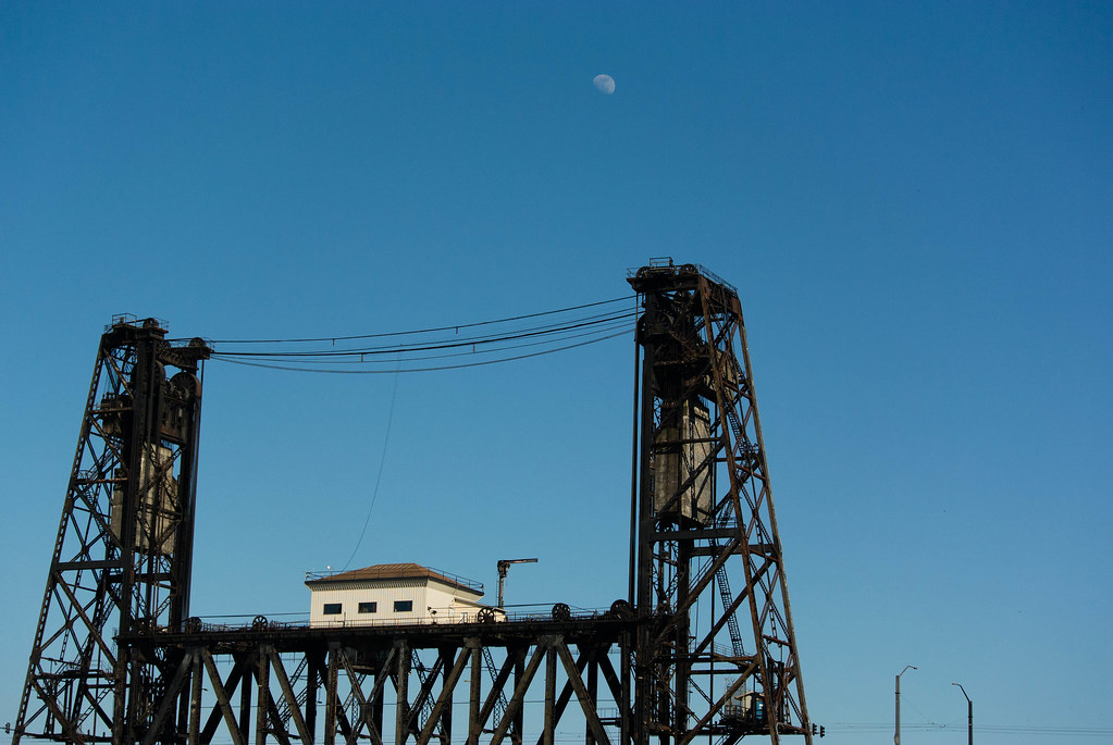 Steel Bridge & Moon