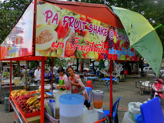 Mrs. Pa's Fruit Shakes by Chiang Mai Gate, Thailand