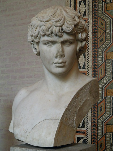 Marble bust of Antinous, circa AD 130, Glyptothek Museum, Munich