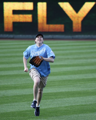 Geoff Ekey and the KC Royals Pop Fly Challenge