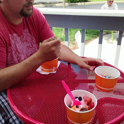 Free frozen yogurt for dad