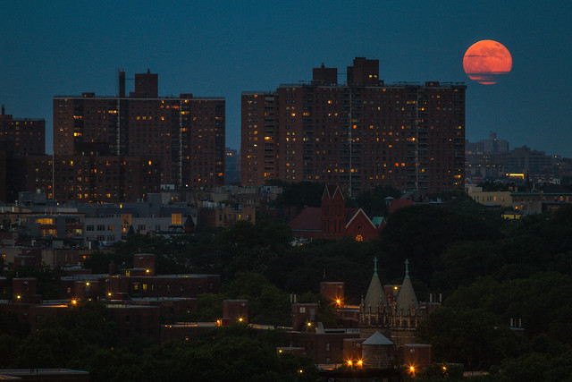 Super Moon over Brooklyn