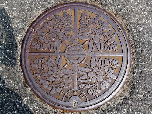 Imajo town Fukui pref, manhole cover 2 (福井県今庄町のマンホール2)