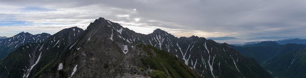 20130623 奥穂高岳のパノラマ写真