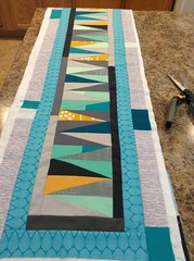 WIP table runner. Late summer/early autumn. For my own home.