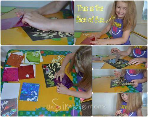 Peaceable Kingdom Foil Art Sticker Kit collage