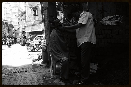 Street Barber Shot By Marziya Shakir 3 Year Old by firoze shakir photographerno1