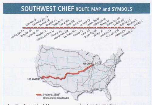 Amtrak Southwest Chief 2013 Map