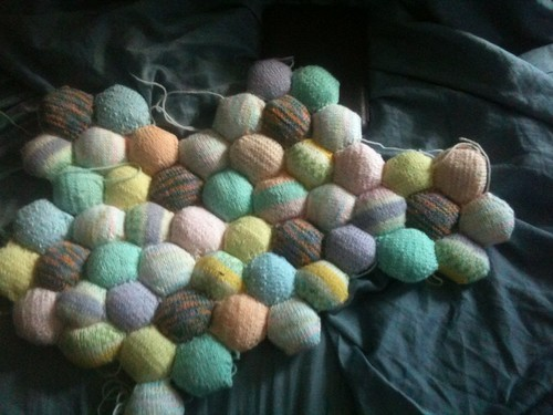 Hexi blanket in progress