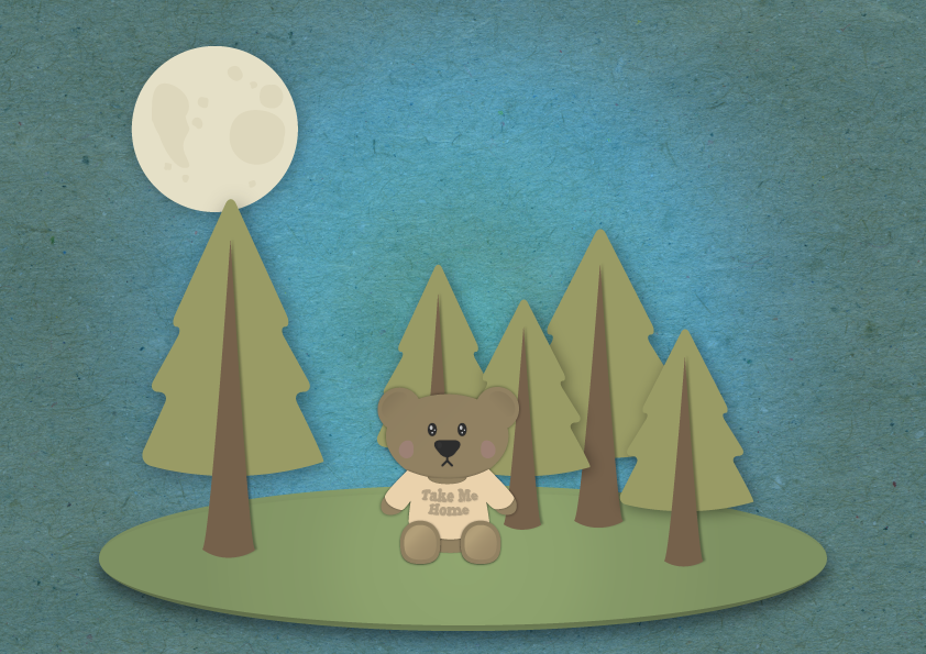 Teddy-in-the-forest