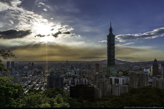 日暮台北101 Taipei 101 before Sunset
