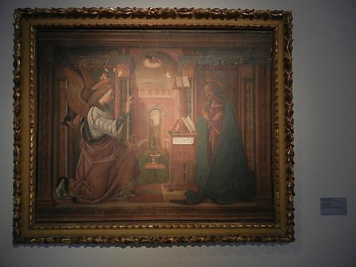 DSCN3798 _ Annunciazione, Viola da Ferrara, Pinacoteca Nazionale (Palazzo Diamanti), Ferrara, 17 October