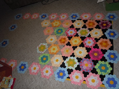 Grandmother's Flower Garden Progress