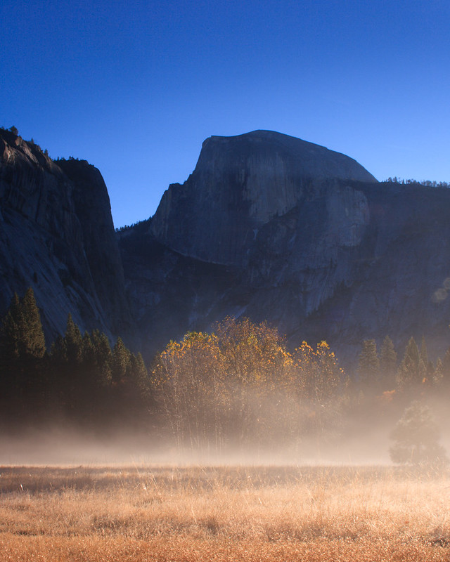 Fall Morning Mist in Yosemite National Park