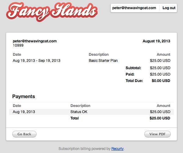 Invoice 36427 Fancy Hands