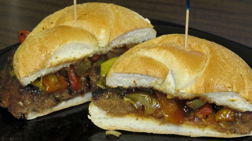 BBQ cheddar meatloaf sandwich by Coyoty