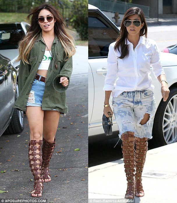 Knee High gladiator sandals: Who wore it better?