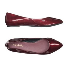 Long Tall Sally Burgundy Flats