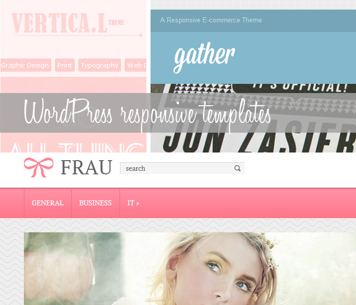Responsive WordPress themes, templates